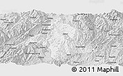 Silver Style Panoramic Map of Lincang