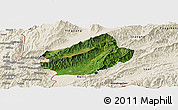 Satellite Panoramic Map of Longchuan, shaded relief outside