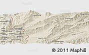Shaded Relief Panoramic Map of Longchuan