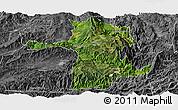 Satellite Panoramic Map of Longling, desaturated