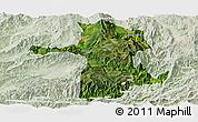 Satellite Panoramic Map of Longling, lighten