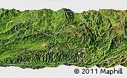 Satellite Panoramic Map of Longling