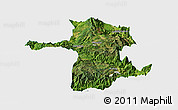 Satellite Panoramic Map of Longling, single color outside