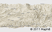 Shaded Relief Panoramic Map of Longling