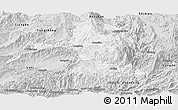 Silver Style Panoramic Map of Longling