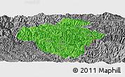 Political Panoramic Map of Luchun, desaturated