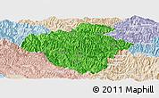 Political Panoramic Map of Luchun, lighten