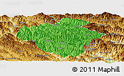 Political Panoramic Map of Luchun, physical outside