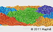 Political Panoramic Map of Luchun