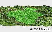 Political Panoramic Map of Luchun, satellite outside