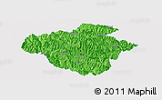 Political Panoramic Map of Luchun, single color outside