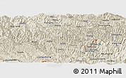 Shaded Relief Panoramic Map of Luchun