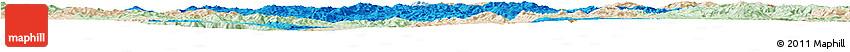 Political Horizon Map of Lufeng, lighten