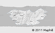 Gray Panoramic Map of Lufeng, single color outside