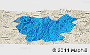 Political Panoramic Map of Lufeng, shaded relief outside