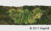 Satellite Panoramic Map of Lufeng, darken