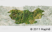 Satellite Panoramic Map of Lufeng, lighten
