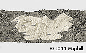 Shaded Relief Panoramic Map of Lufeng, darken