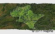 Satellite Panoramic Map of Luoping, darken