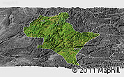 Satellite Panoramic Map of Luoping, desaturated