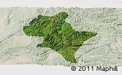 Satellite Panoramic Map of Luoping, lighten