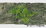 Satellite Panoramic Map of Luoping, semi-desaturated