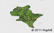 Satellite Panoramic Map of Luoping, single color outside