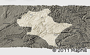 Shaded Relief Panoramic Map of Luoping, darken