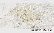 Shaded Relief Panoramic Map of Luoping, lighten