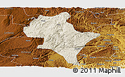 Shaded Relief Panoramic Map of Luoping, physical outside