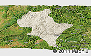 Shaded Relief Panoramic Map of Luoping, satellite outside