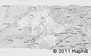 Silver Style Panoramic Map of Luoping