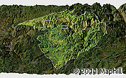 Satellite Panoramic Map of Luquan, darken
