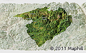 Satellite Panoramic Map of Luquan, lighten