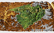 Satellite Panoramic Map of Luquan, physical outside