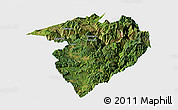 Satellite Panoramic Map of Luquan, single color outside