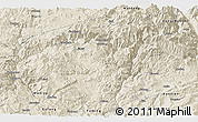 Shaded Relief Panoramic Map of Luquan