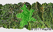 Political Panoramic Map of Lushui, satellite outside