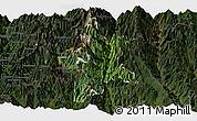 Satellite Panoramic Map of Lushui, darken