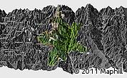 Satellite Panoramic Map of Lushui, desaturated