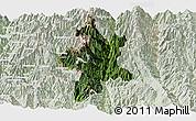 Satellite Panoramic Map of Lushui, lighten