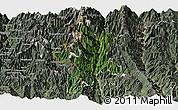 Satellite Panoramic Map of Lushui, semi-desaturated