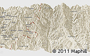 Shaded Relief Panoramic Map of Lushui
