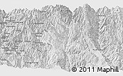 Silver Style Panoramic Map of Lushui