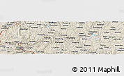 Shaded Relief Panoramic Map of Luxi