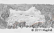 Gray Panoramic Map of Maguan