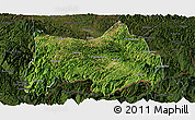 Satellite Panoramic Map of Maguan, darken