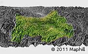 Satellite Panoramic Map of Maguan, desaturated