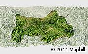 Satellite Panoramic Map of Maguan, lighten