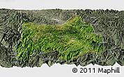 Satellite Panoramic Map of Maguan, semi-desaturated